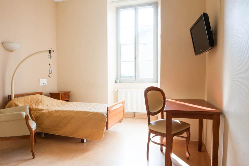 Une chambre à La Compassion d'Autun