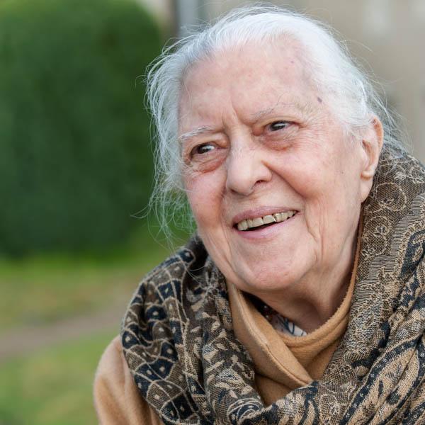 Portrait d'une résidante de La Compassion à Autun