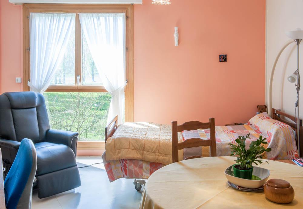 Une chambre de La Compassion à Chaumont