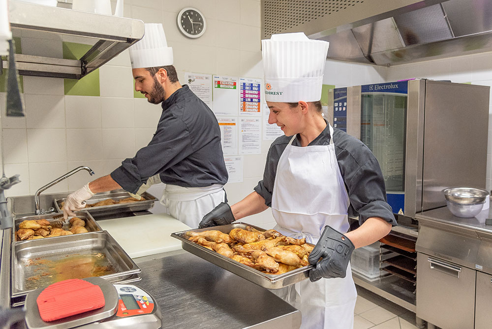 Cuisines de l'EHPAD Saint Domnin