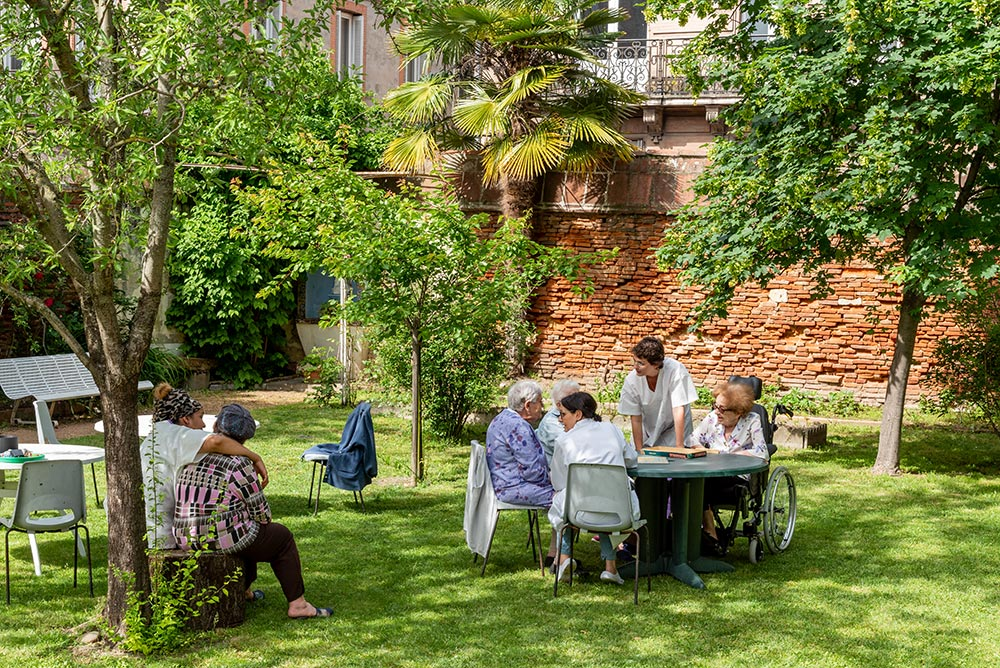 Le jardin de l'EHPAD
